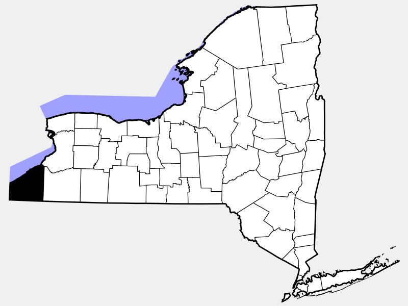 Chautauqua County, NY locator map