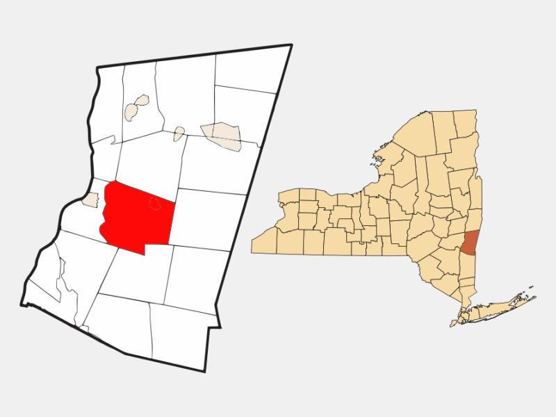 Claverack locator map