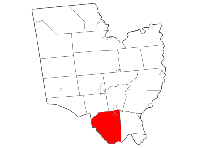Clifton Park locator map