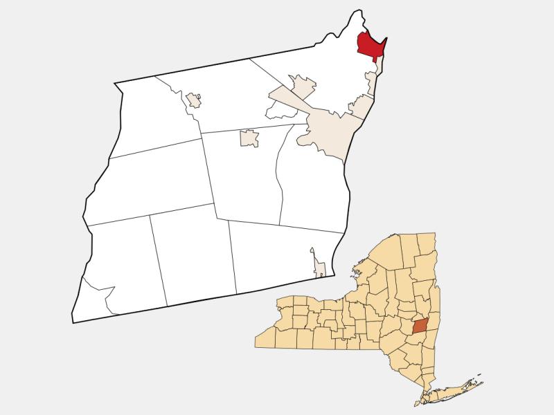 Cohoes, NY locator map