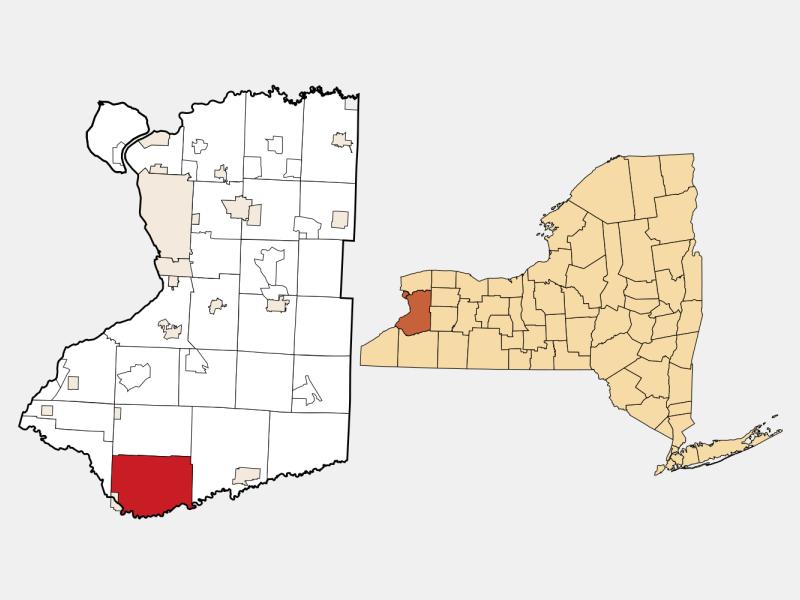 Collins locator map