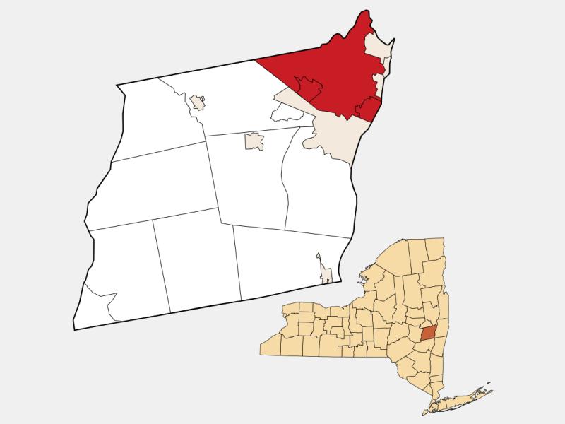 Colonie locator map