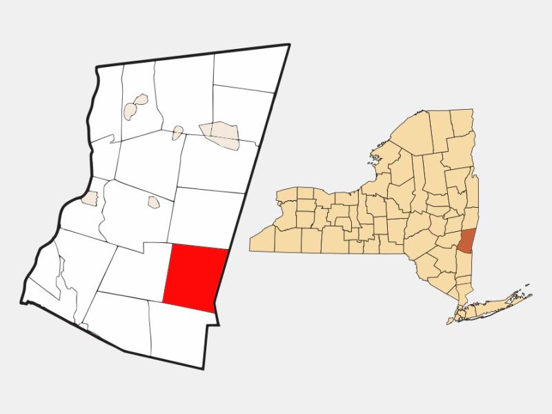 Copake locator map