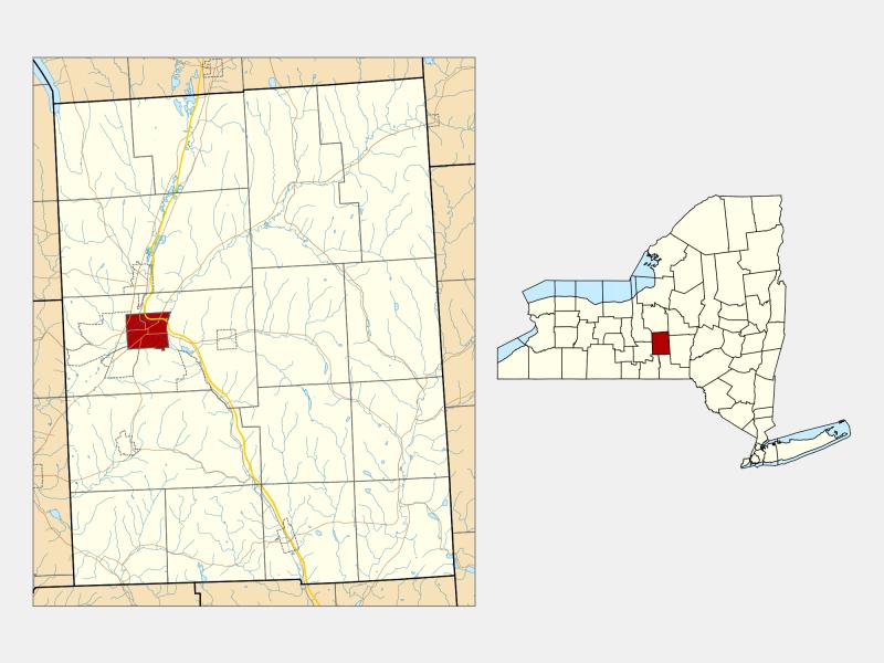 Cortland, NY locator map