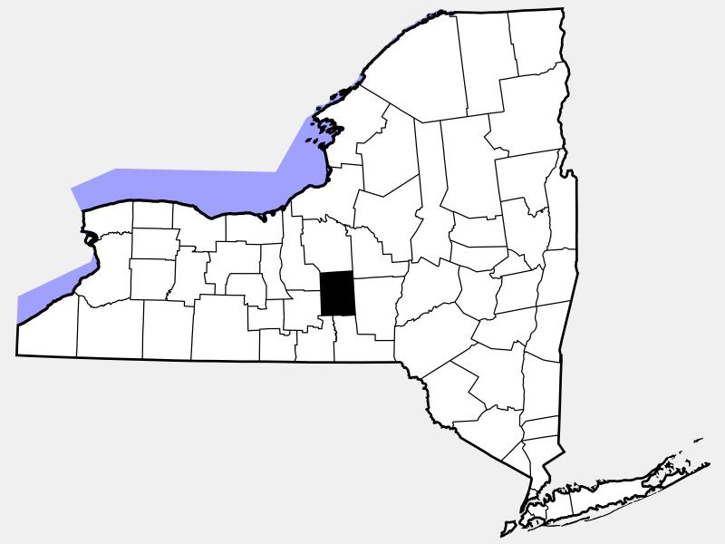 Cortland County, NY locator map