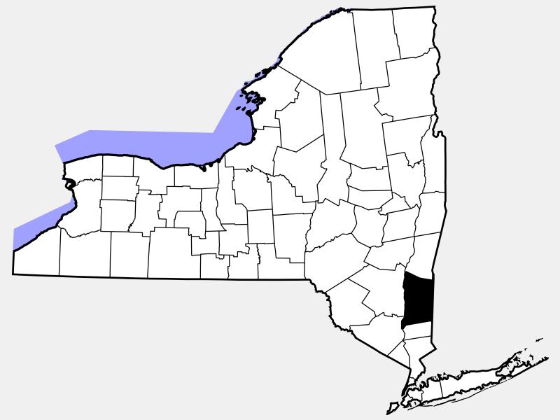 Dutchess County locator map