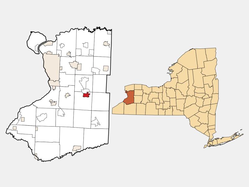 East Aurora locator map