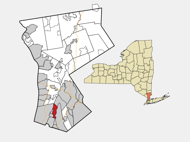 Eastchester, NY locator map