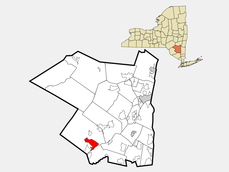 Ellenville location map