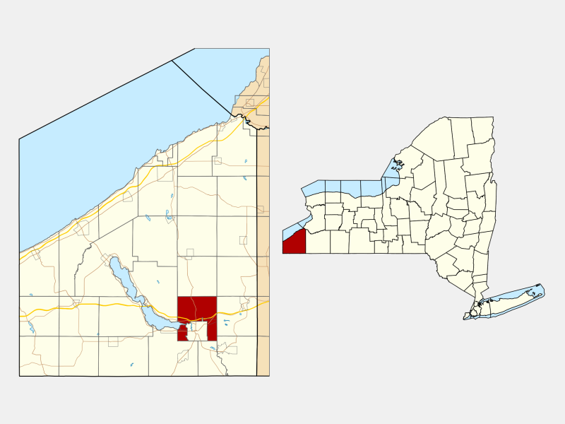 Ellicott locator map