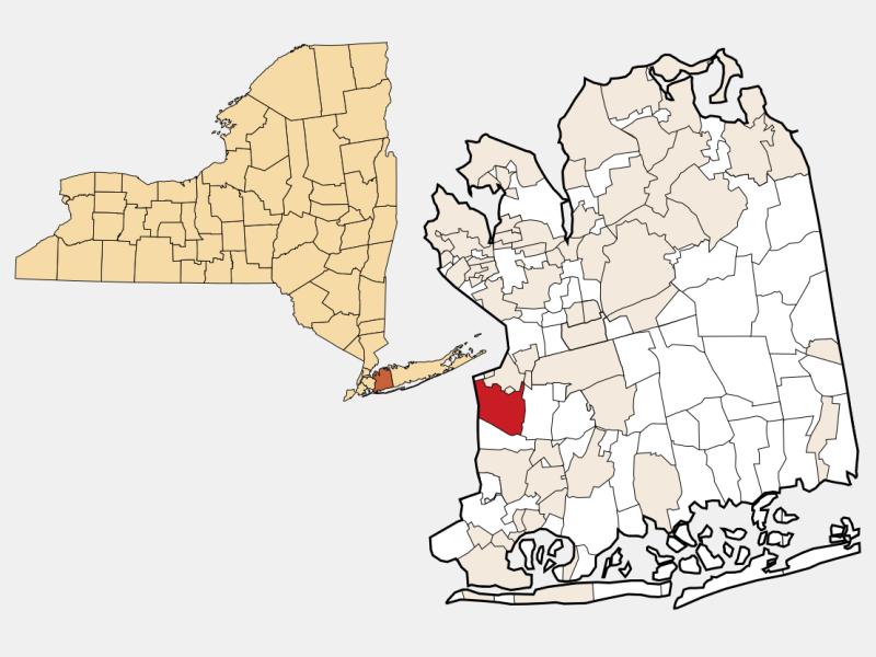 Elmont locator map