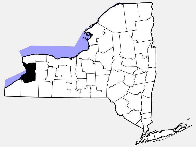 Erie County, NY locator map