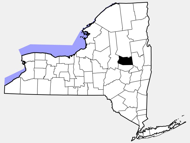 Fulton County locator map