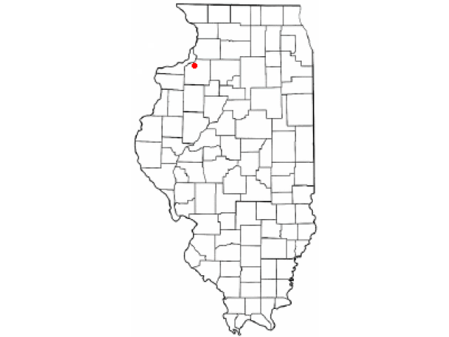 Geneseo locator map