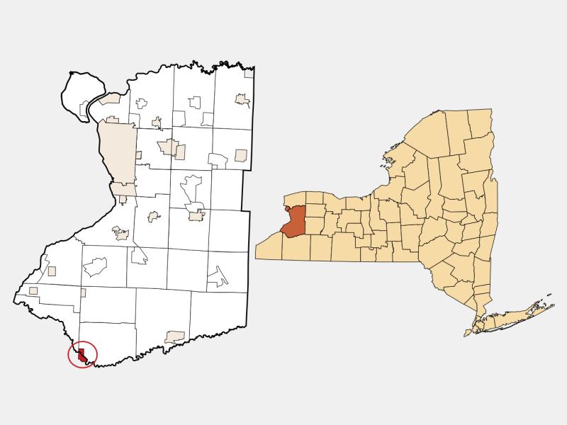Gowanda locator map
