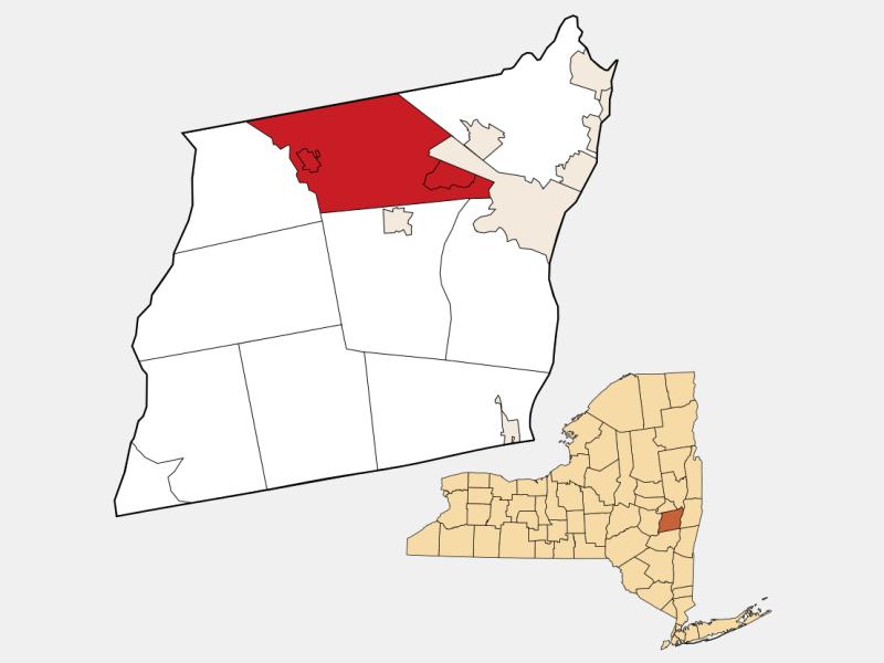 Guilderland locator map