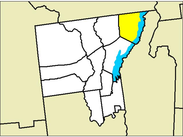 Hague locator map