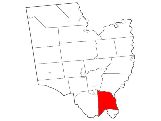 Halfmoon, NY locator map