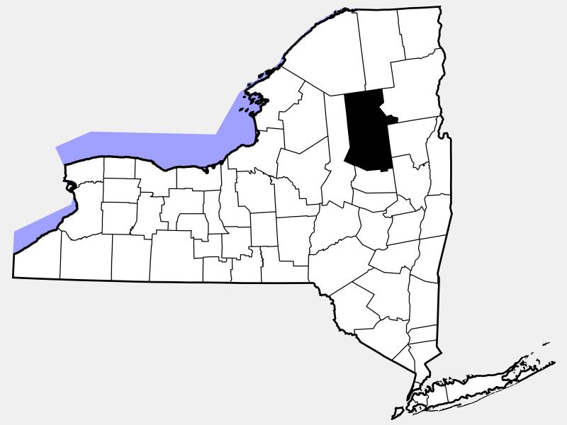 Hamilton County locator map