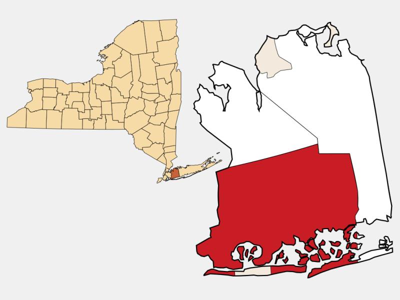 Hempstead locator map