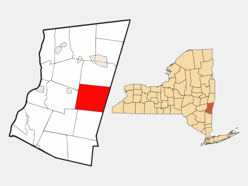 Hillsdale locator map