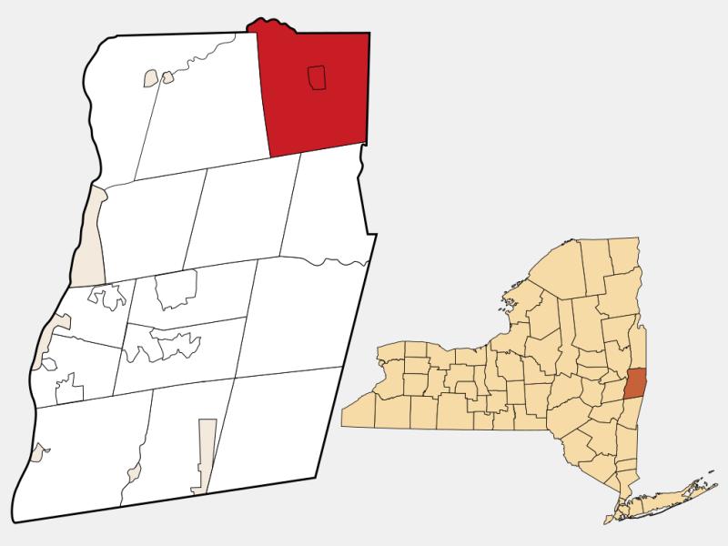 Hoosick locator map