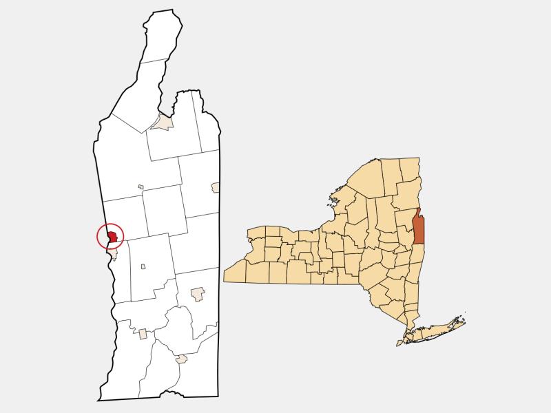 Hudson Falls locator map