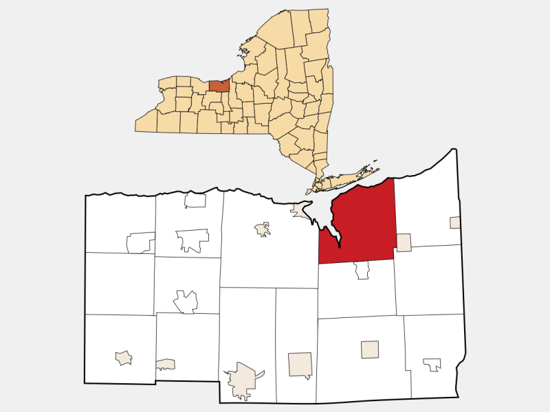 Huron locator map
