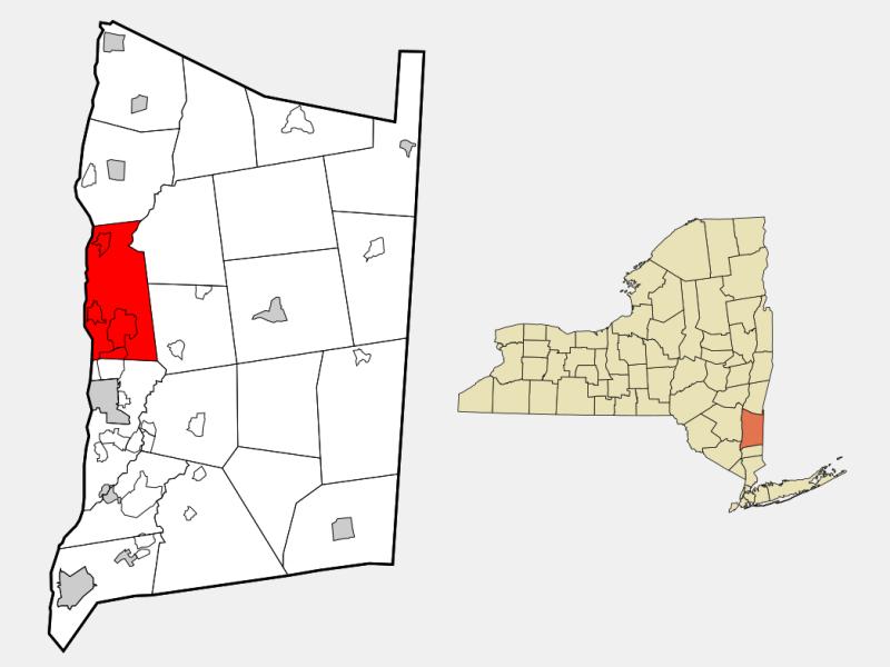 Hyde Park, NY locator map
