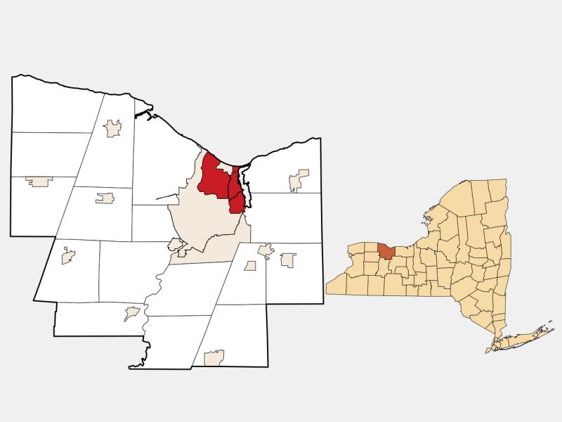 Irondequoit, NY locator map