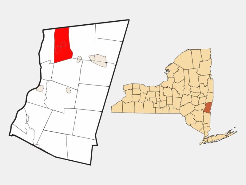 Kinderhook locator map
