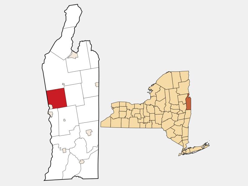 Kingsbury locator map
