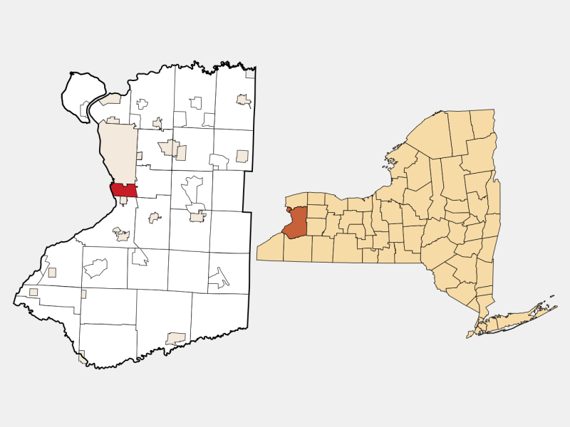 Lackawanna locator map