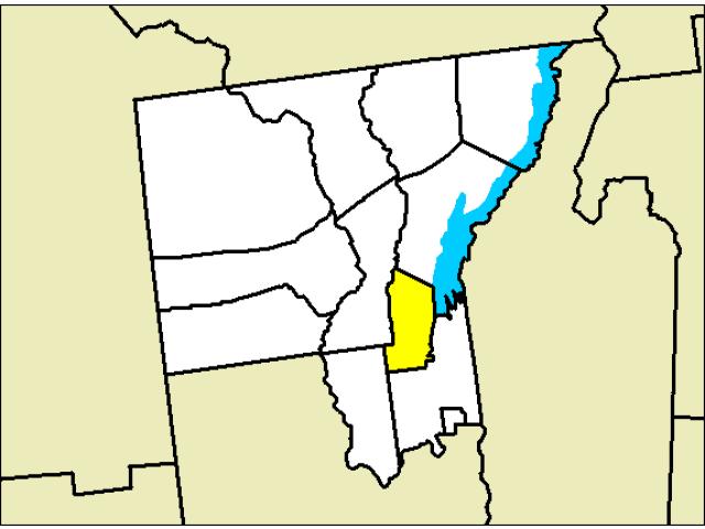 Lake George locator map