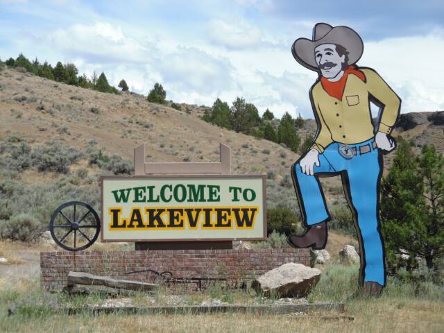 Welcome Sign  Lakeview  Oregon  2014 image