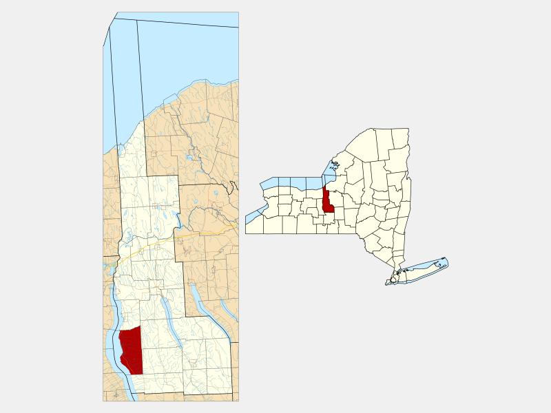 Ledyard locator map