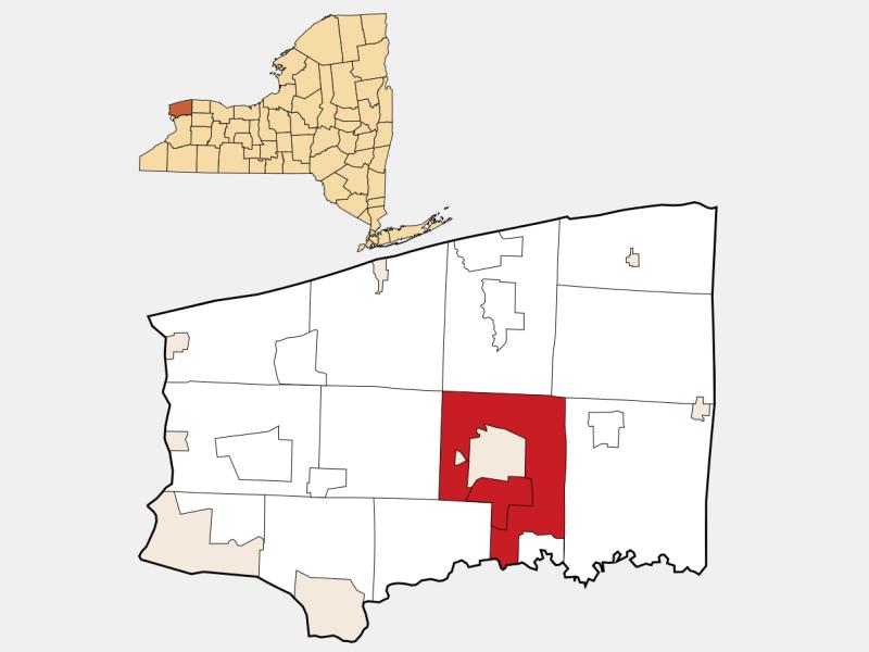 Lockport, NY locator map