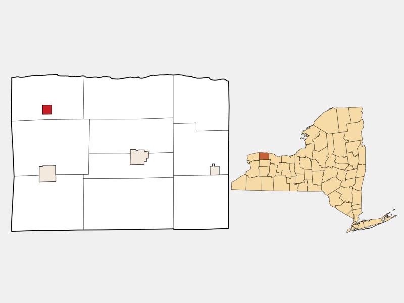 Lyndonville locator map