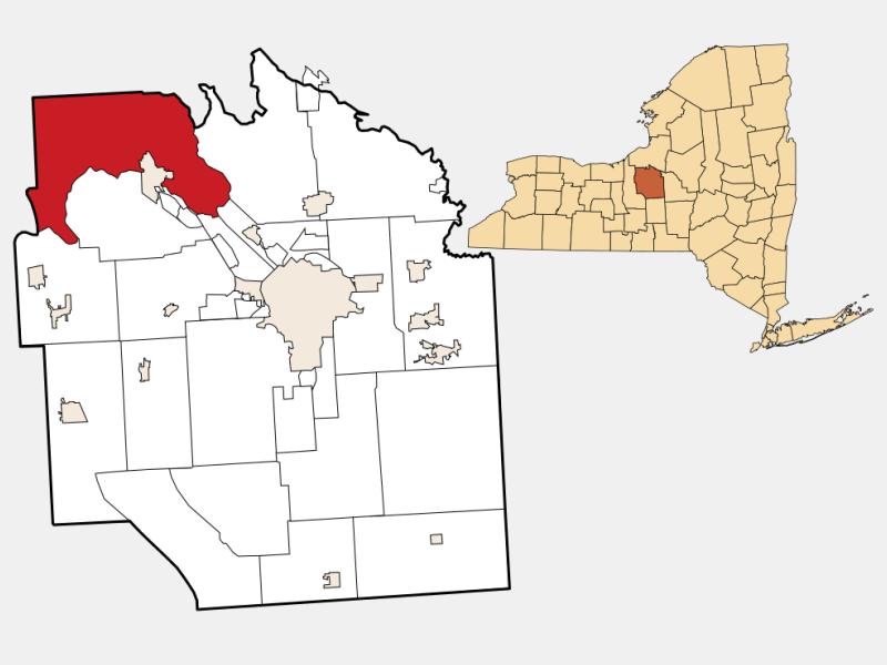 Lysander, NY locator map