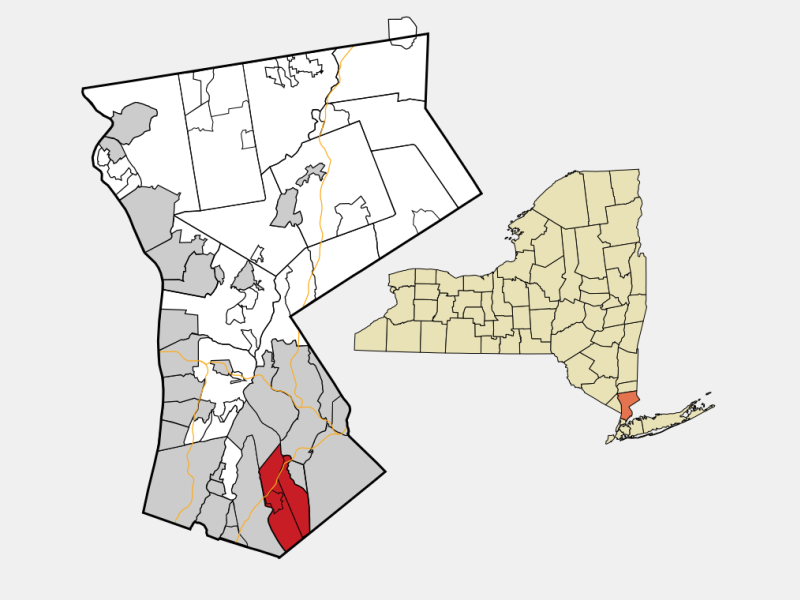 Mamaroneck, NY locator map