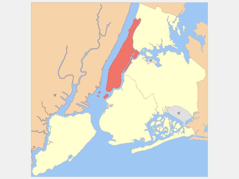 Manhattan, NY locator map