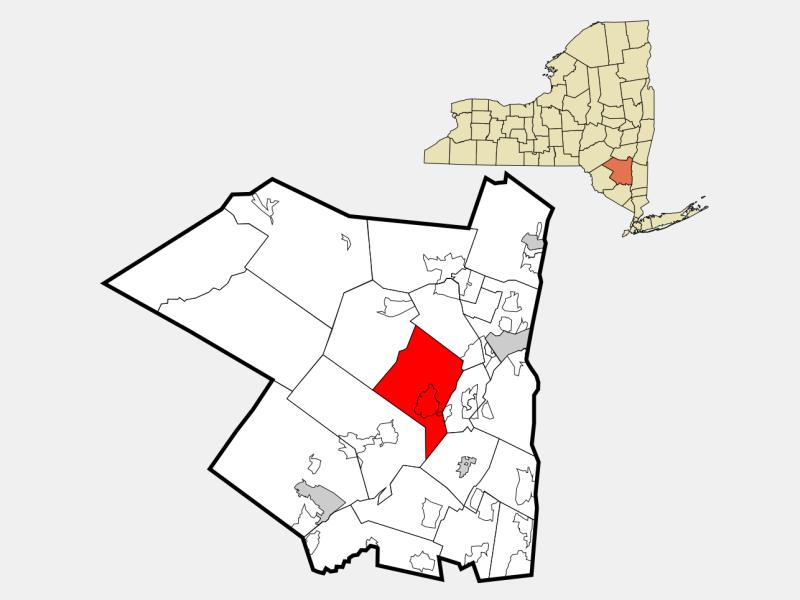 Marbletown locator map