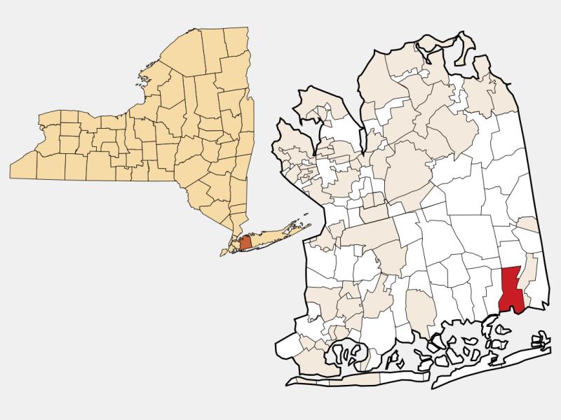 Massapequa locator map