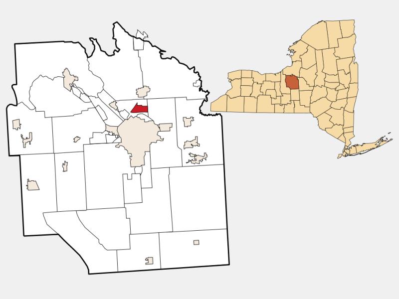 Mattydale locator map