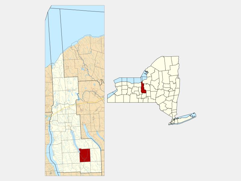 Moravia locator map