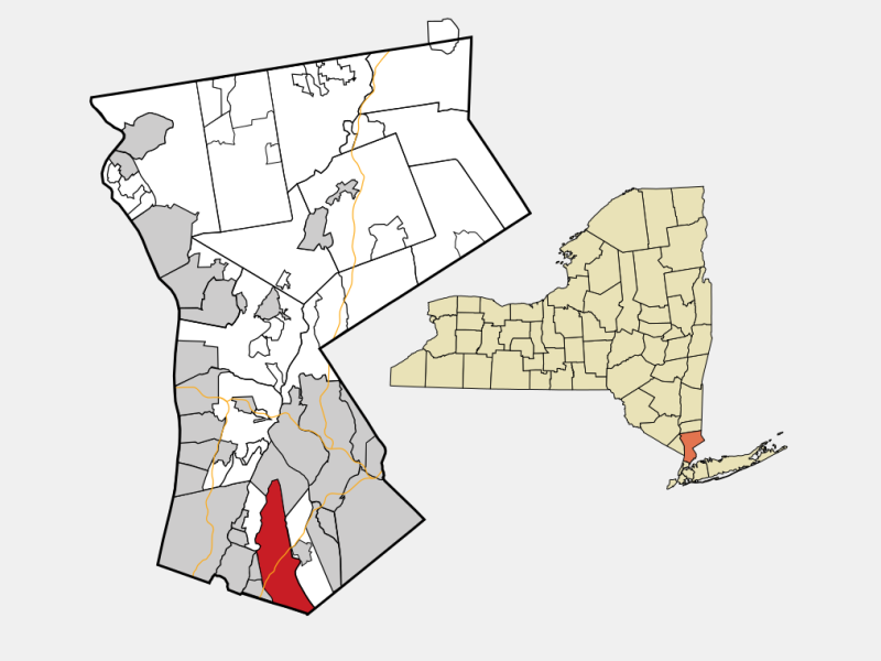New Rochelle, NY locator map