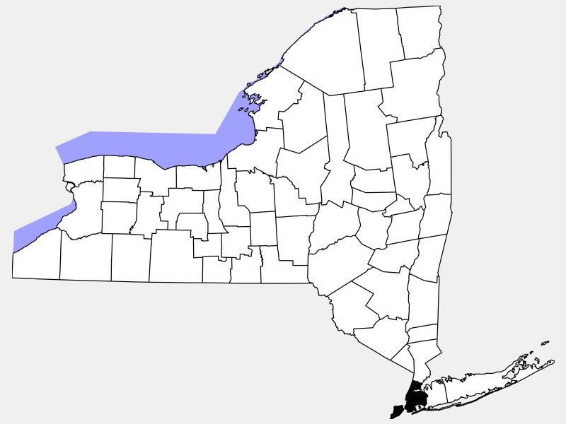 New York City, NY locator map
