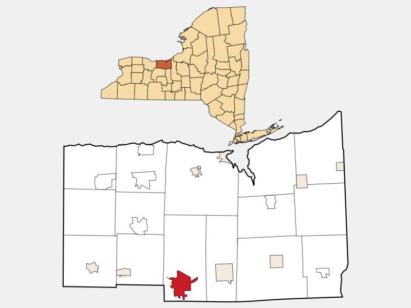 Newark locator map