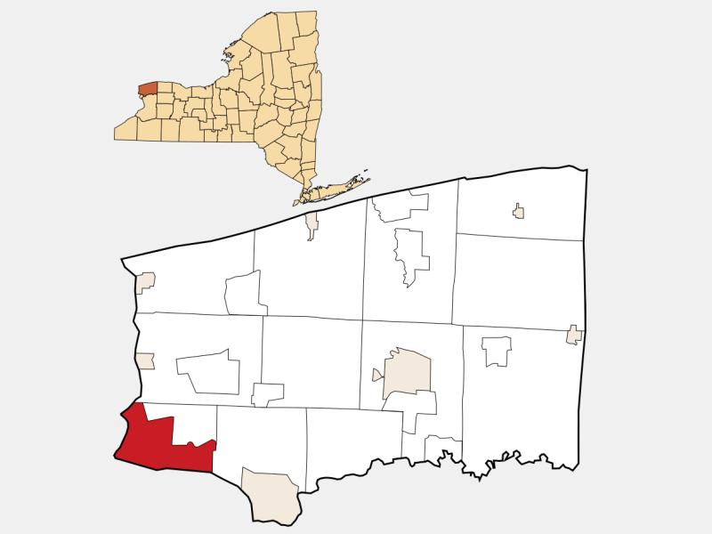 Niagara Falls locator map