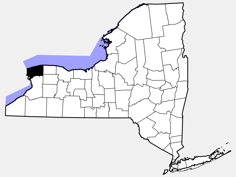 Niagara County locator map
